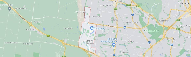 Caroline Springs map area