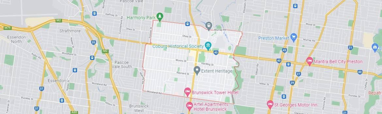 Coburg map area