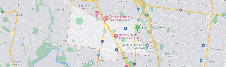 Essendon map area