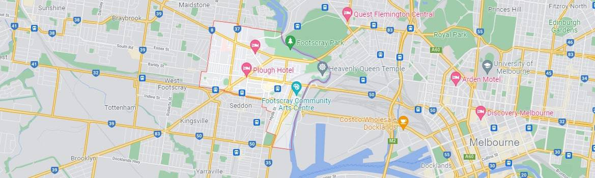 Footscray map area