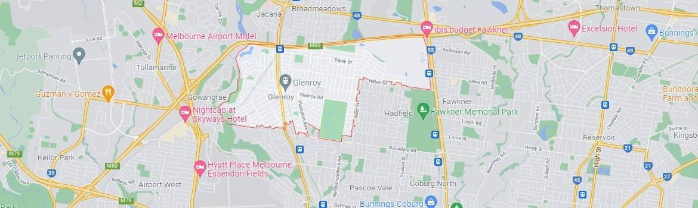 Glenroy map area