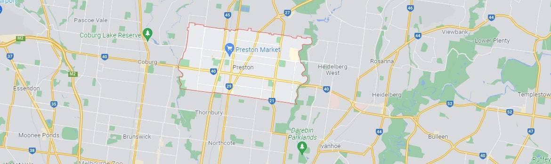 Preston map area