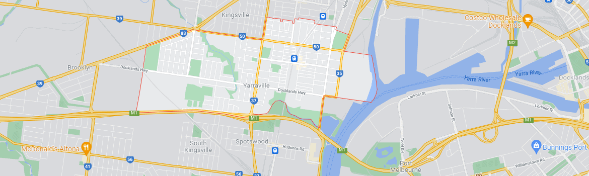 Yarraville map area